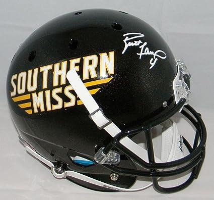 wholesale dealer 920fd 7a07d Amazon.com: Autographed Brett Favre Helmet - Southern Miss ...