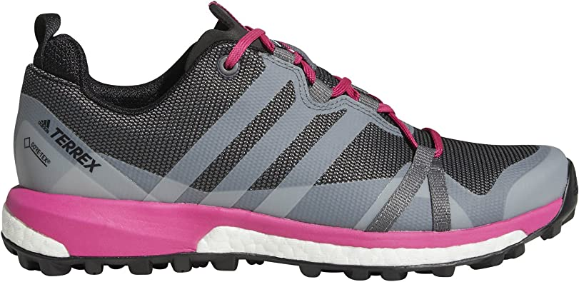 adidas outdoor Women's Terrex Agravic GTX Grey Four/Grey One/Real Magenta 9  B US