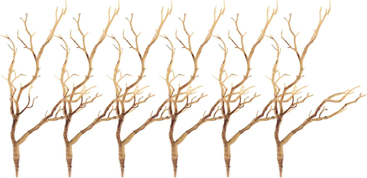 Sigdio Artificial Stems Bohemian Natural Twigs Antler Dried Tree Branches for Wedding Party Home Hotel Decoration (Brown, 6)