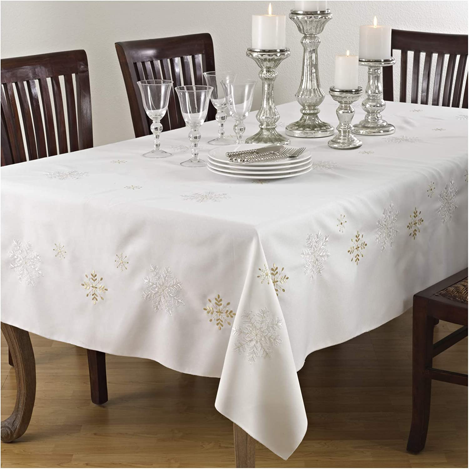 Occasion Gallery Ivory Winter Tablec Regular Max 62% OFF discount Holiday Snowflake Christmas