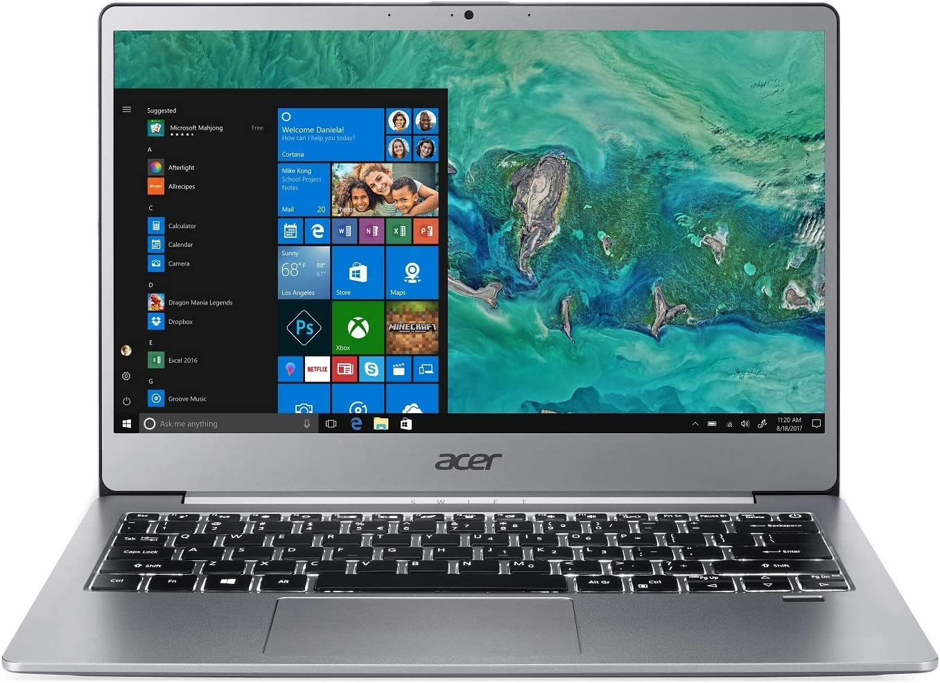 "Acer Swift 3 SF313-51-50WL Laptop, 14"" Full HD, 8th Gen Intel Core i5-8250U, 8GB DDR4, 256GB PCIe SSD, 4G LTE, Back-lit Keyboard, Windows 10 (Renewed)"