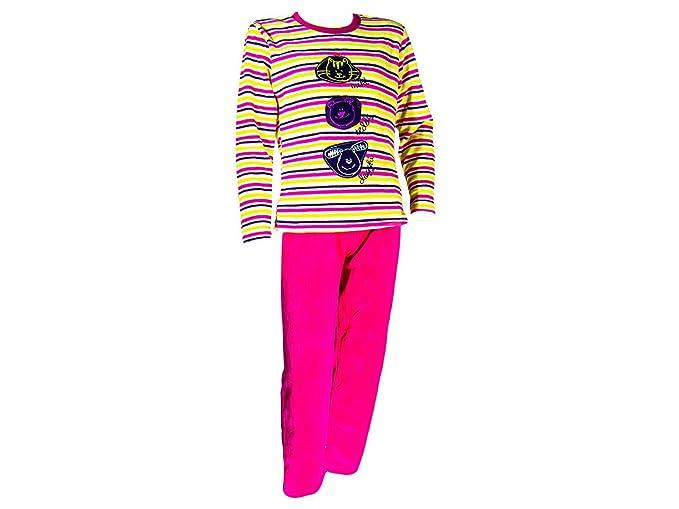 Pijama tundosado (terciopelo) manga larga Niña - Juvenil F-T - 8, Frambuesa