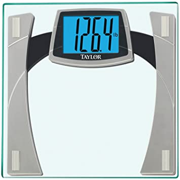 taylor tempered glass scale with huge lighted readout amazoncom tempered glass