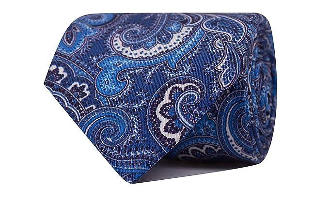 SoloGemelos - Corbata Cachemir Azul Oscuro - Azul - Hombres ...