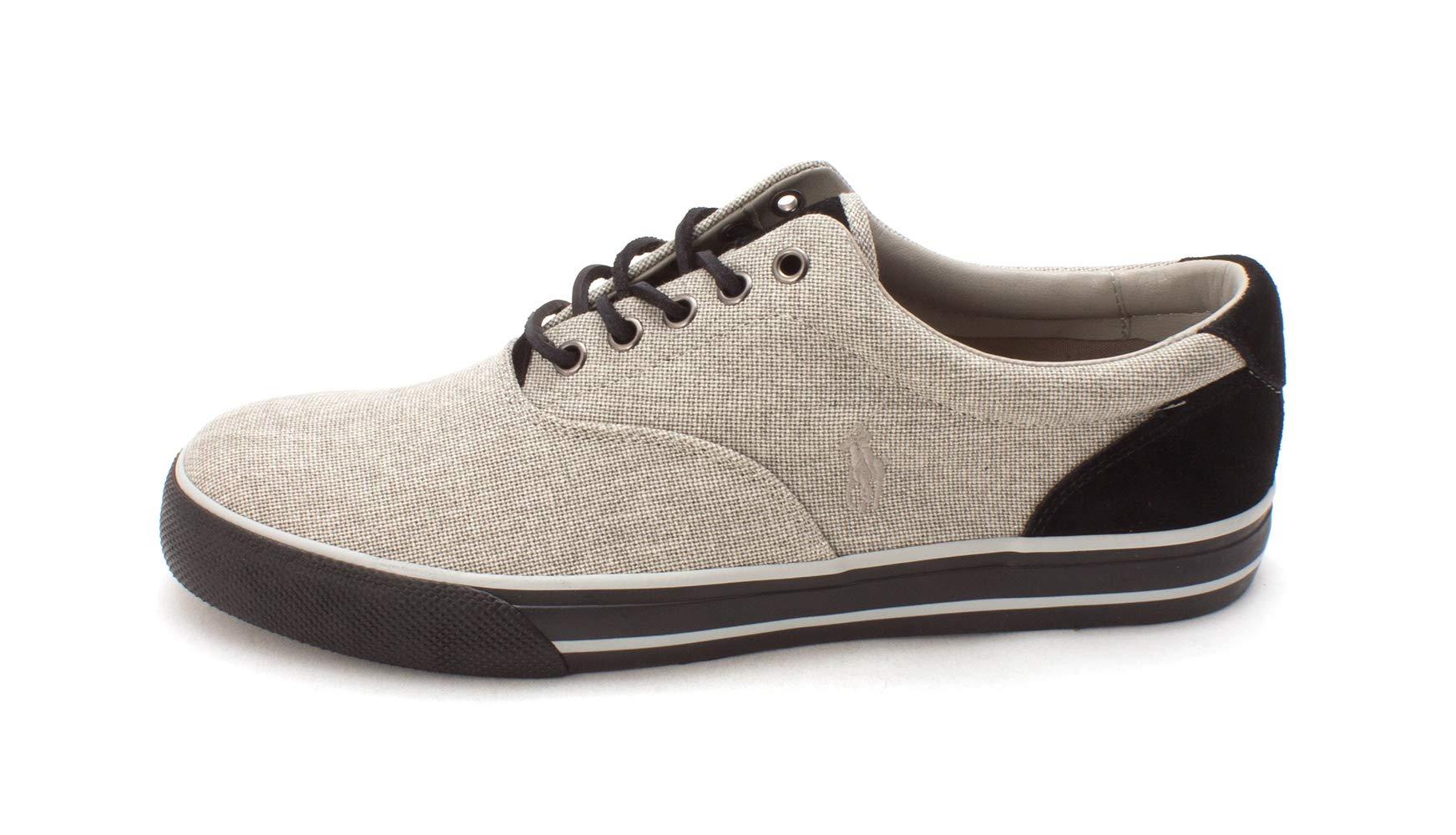 Polo Ralph Lauren Mens Vaughn Fabric Low Top Lace up, Grey/Black, Size 11.0