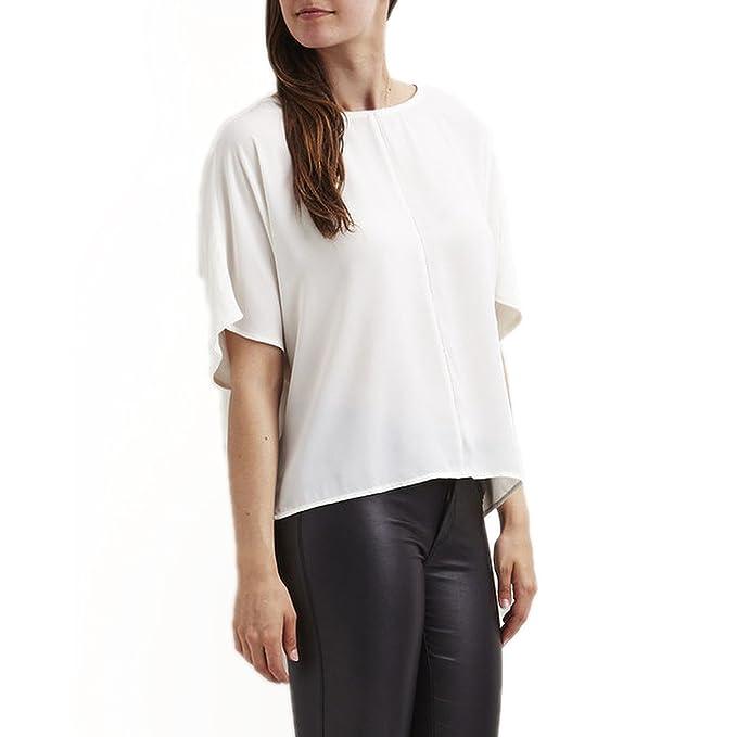 Vila Clothes - Blusa Viame Blanco Murcielago Clothes - S, Blanco