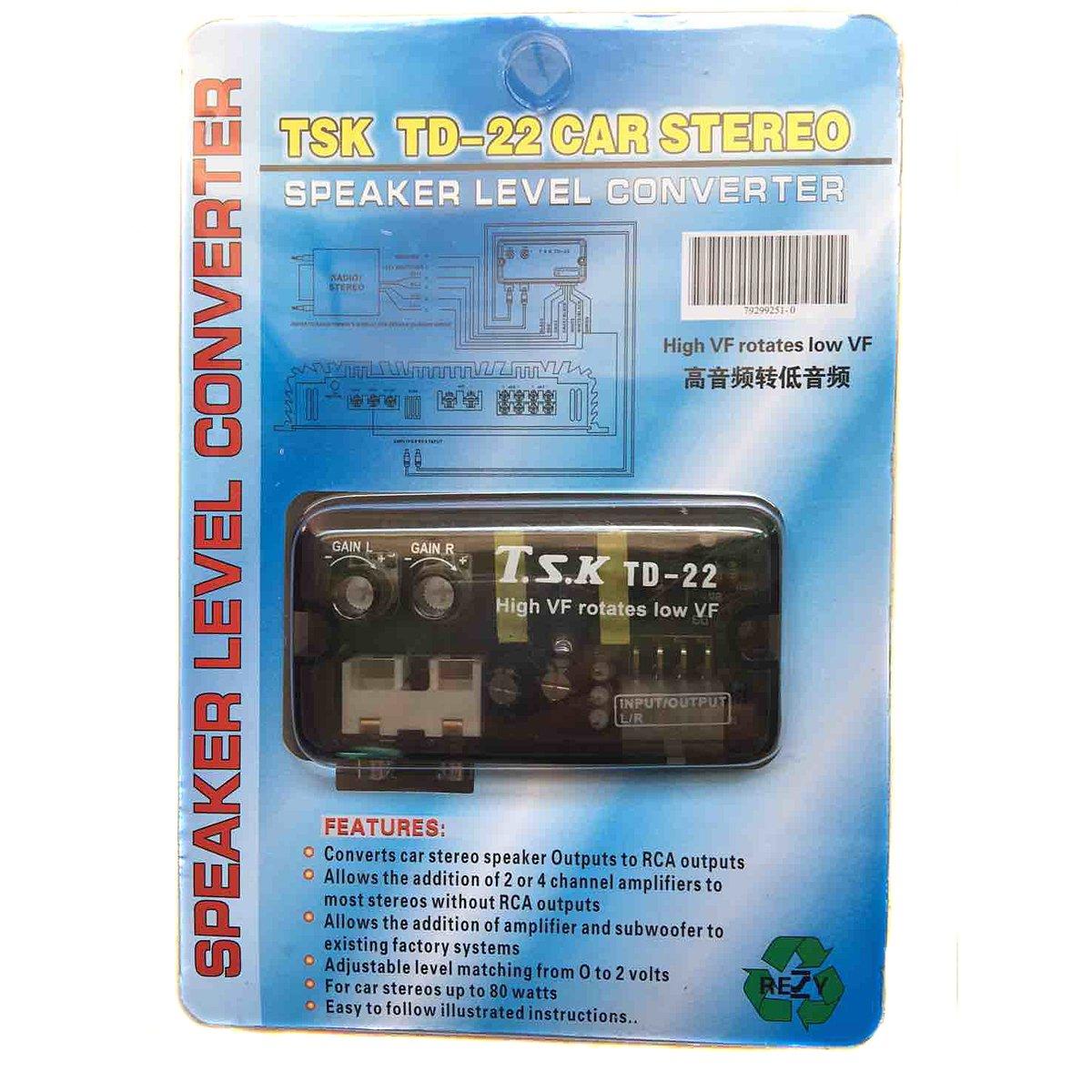 Amazon.com: GVDOR General Auto Speaker Level Converter Transducer HI ...
