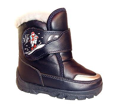 6552f1027f9933 Renbut Jungen Kinder Boots Herbst Winterschuhe Stiefeletten gefüttert Blau  Schuhgröße EUR 25