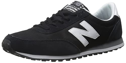 New Balance Women's U410 Low-Top Sneakers, Black (Black/White),