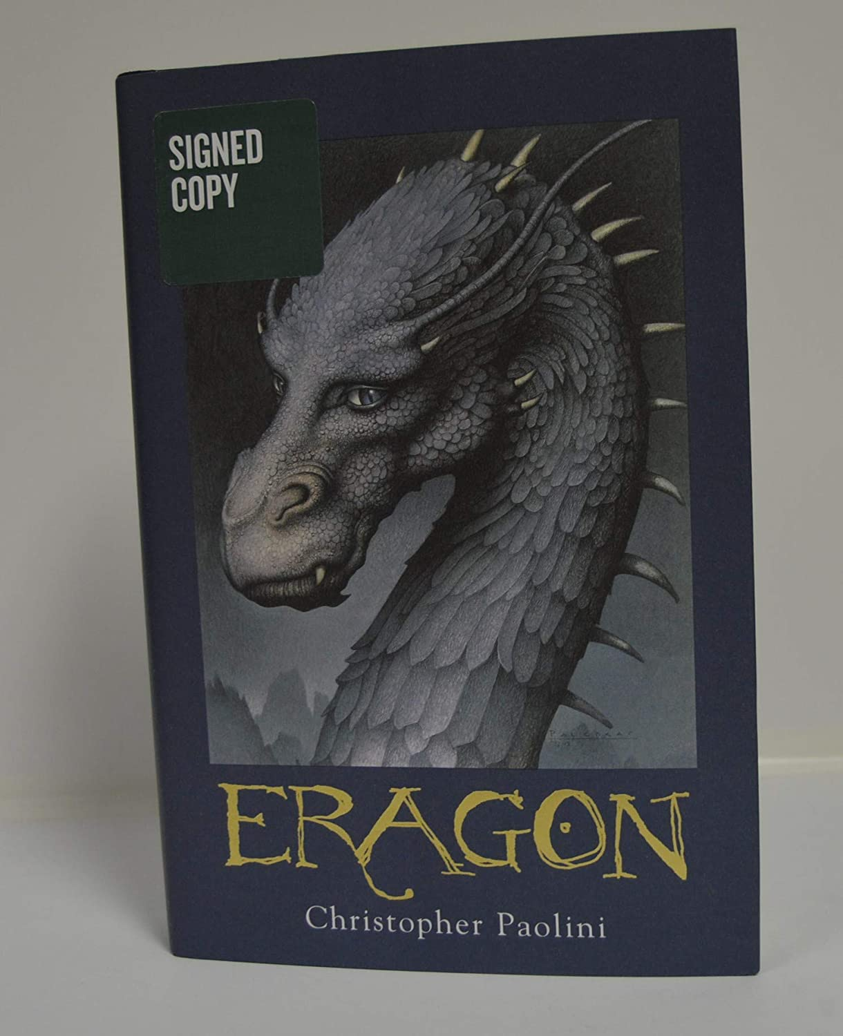 CHRISTOPHER PAOLINI signed Eragon (Inheritance, Book 1) HARDCOVER Book FIRST EDITION