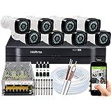 Kit Cftv 8 Câmera Segurança Full Hd 2mp Dvr Intelbras Sem HD