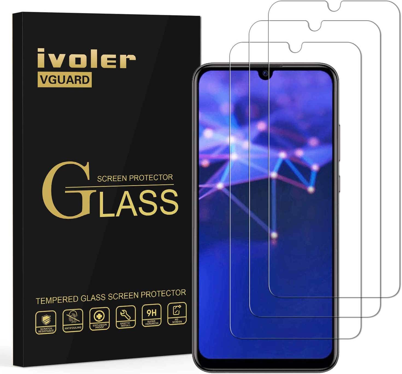 VGUARD [3 Unidades] Protector de Pantalla para Honor 20 Lite / Honor 10 Lite / Honor20e / Huawei P Smart Plus 2019 / Huawei P Smart 2019 / Huawei P Smart 2020, Cristal Vidrio Templado Premium