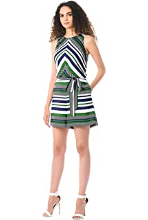 889bc19d288 eShakti Women s Flutter sleeve cotton knit jumpsuit  Amazon.co.uk ...