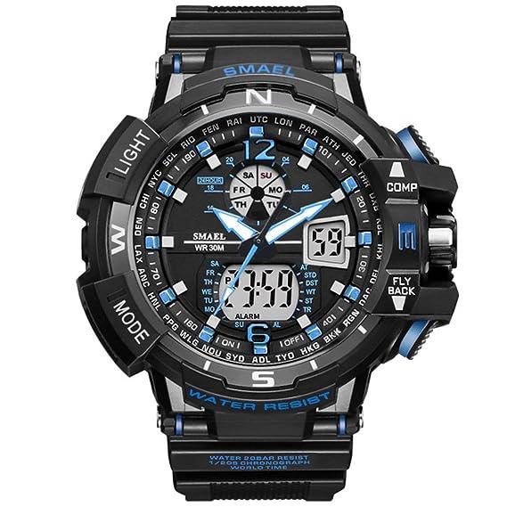 Skye Reker 2017 Casual reloj de los hombres s choque impermeable natación LED reloj del deporte