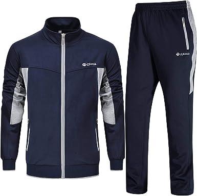 YSENTO Chándal completo para hombre, ideal para jogging y gimnasio ...