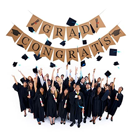 amazon com graduation banner congrats grad banner with graduation