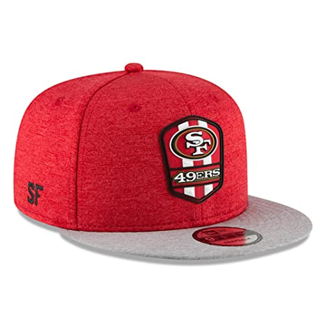 outlet store 4b578 44da3 Image Unavailable. Image not available for. Color  New Era San Francisco  49ers 2018 NFL Sideline Road Official 9FIFTY Snapback Hat