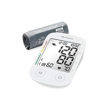 Medisana BU 535 Voice Tensiómetro para el brazo, pantalla de arritmia, escala de colores de los semáforos de la OMS, para una medición precisa de la ...