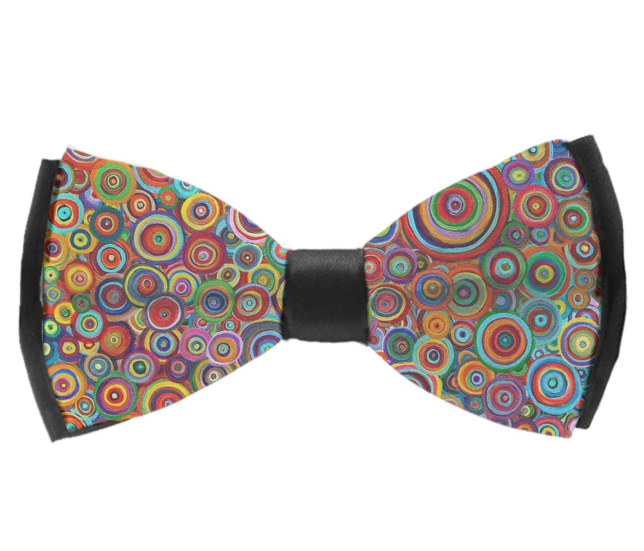 Psychedelic Trippy Art Candle Adjustable Party Bow Tie INWANZI Elegant Pre-Tied Bowtie for Men /& Boys