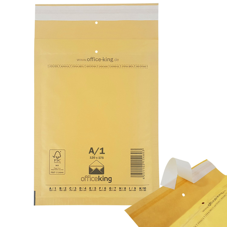 DIN A6 Luftpolsterumschl/äge Luftpolsterversandtaschen A1 200 Luftpolstertaschen braun Gr 120x175mm