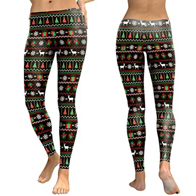 57e73632fd1e46 wintefei Christmas Theme,Slim Fit,Stretchy,Comfortable Women Christmas Tree  Reindeer Print Stretchy