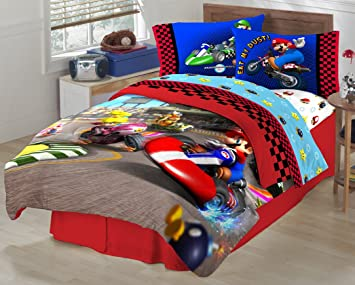 Super Mario The Race Is On Sheet Set Twin Amazon Ca Baby