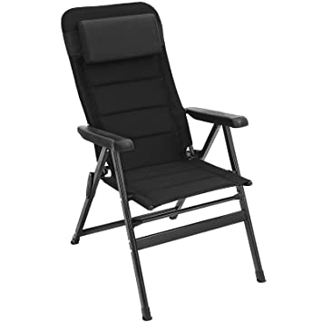 Surprising Songmics Outdoor Garden Chair Foldable With Padded Seat Headrest 150 Kg Load Black Gcb02Bk Ncnpc Chair Design For Home Ncnpcorg