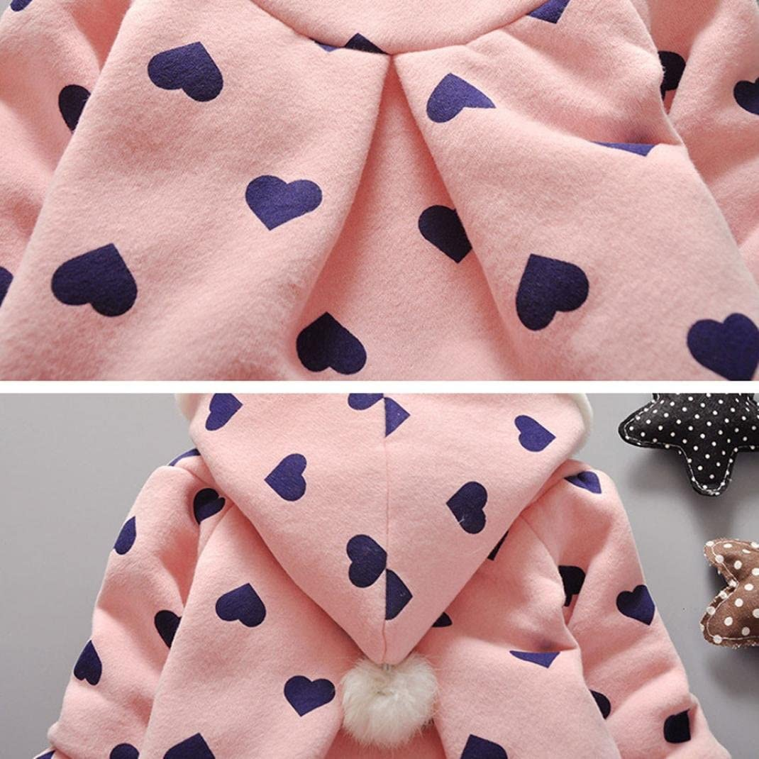 Baby Infant Girls Winter Warm Coat Jacket Thick Warm Clothes Amiley baby girl clothing sets