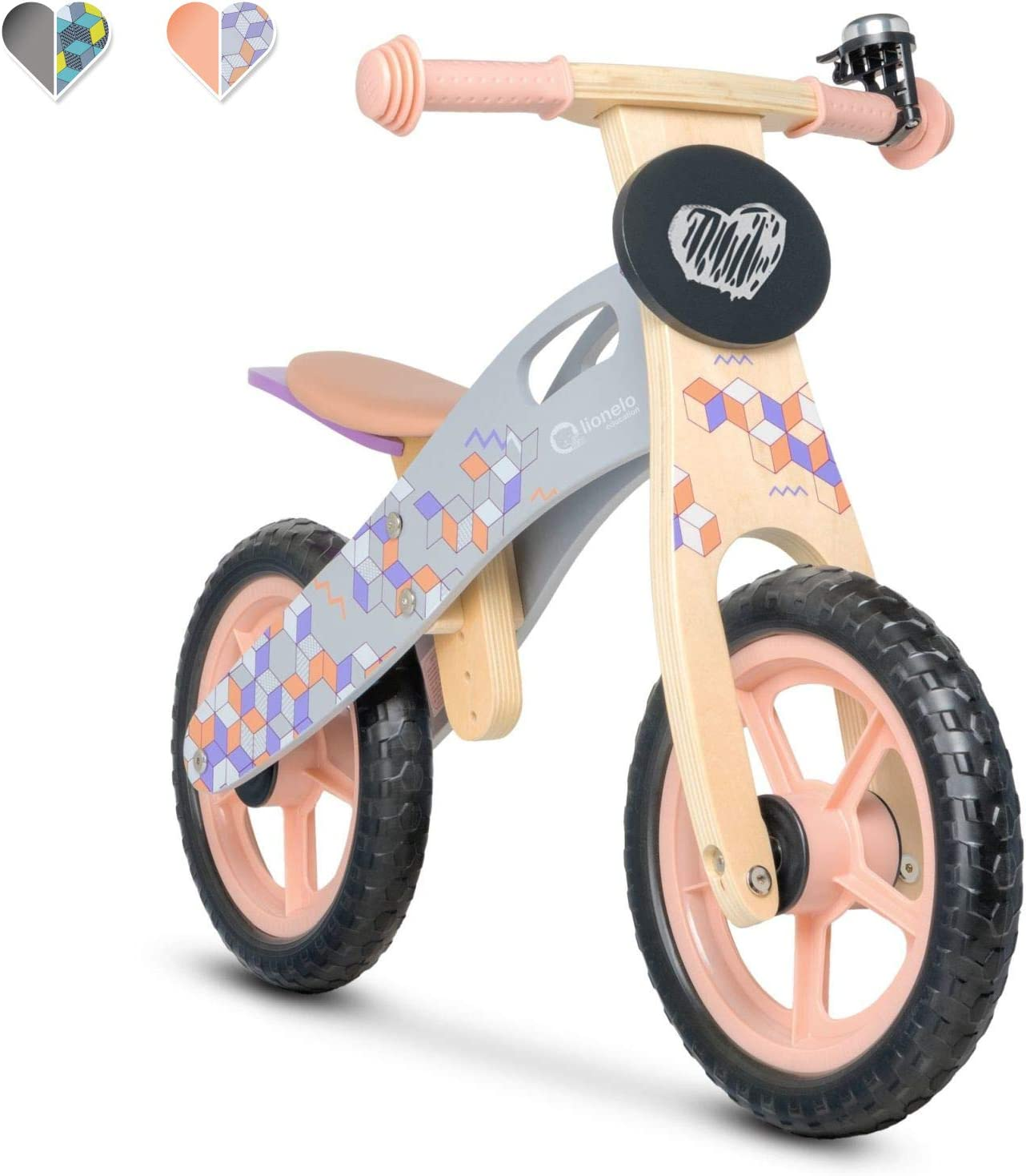 LIONELO Bicicleta Infantil Madera SIN Pedales Casper Pink con Pizarra: Amazon.es: Deportes y aire libre