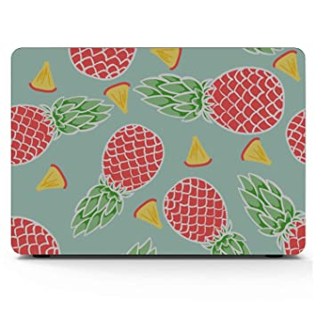 Mac Book Air Covers Summer Fashion Cute Fruit Pineapple Plastic Hard Shell Compatible Mac Air 11 Pro 13 15 2018 MacBook Air Case Protection for MacBook 2016-2019 Version