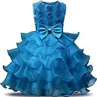 NNJXD Robe de Filles Gamins Volants Dentelles Robes de Mariage pour Les Parties