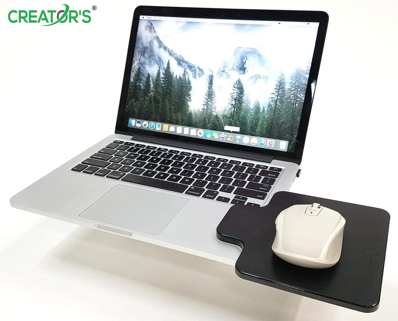 Creador de ratón cornisa plataforma portátil ordenador extensión superficie – engancha directamente a ambos lados de su ordenador portátil: Amazon.es: Oficina y papelería