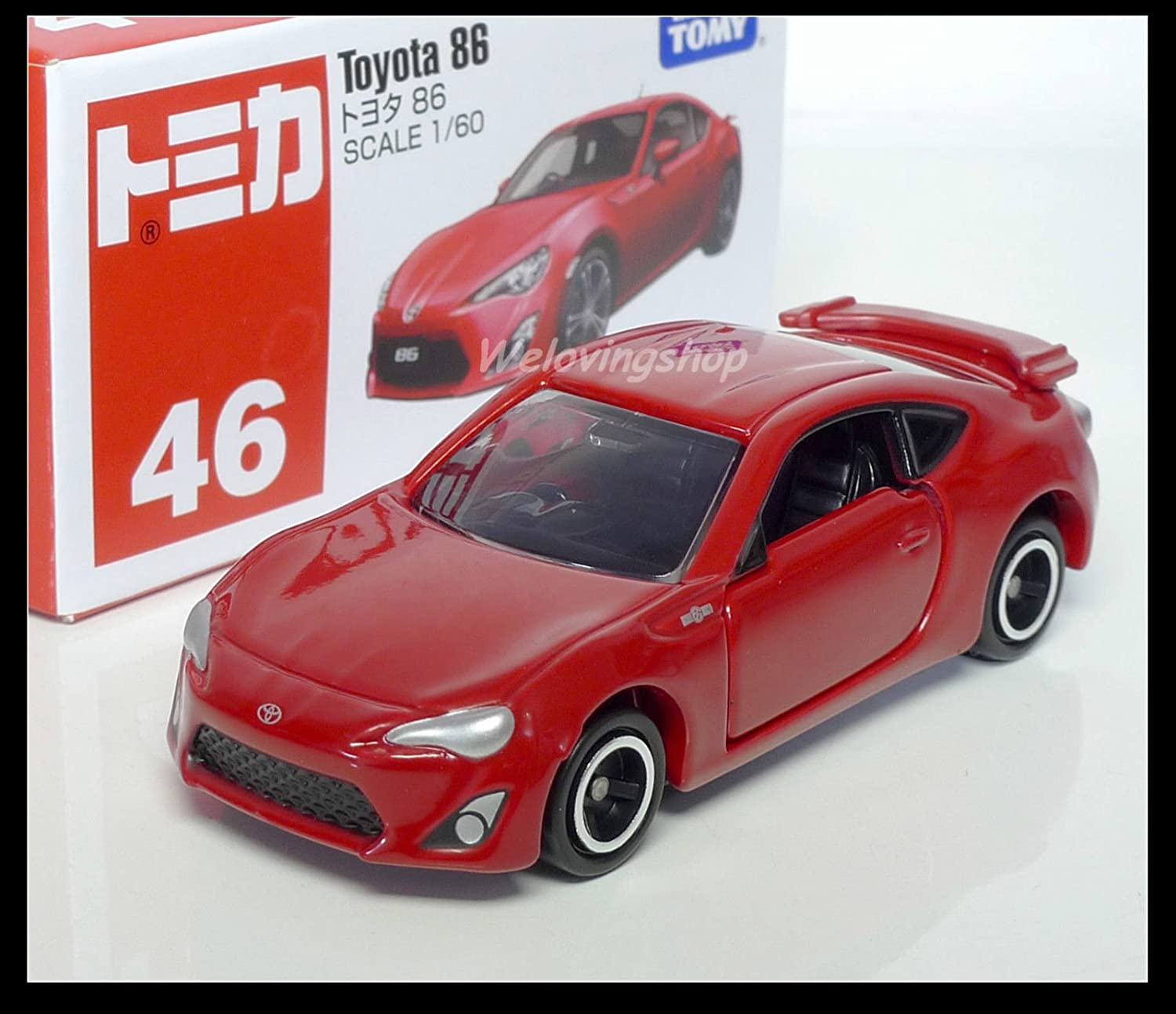 NEW Takara Tomica Tomy #46 Toyota 86 RED Scale 1//60 Diecast Toy Car Japan