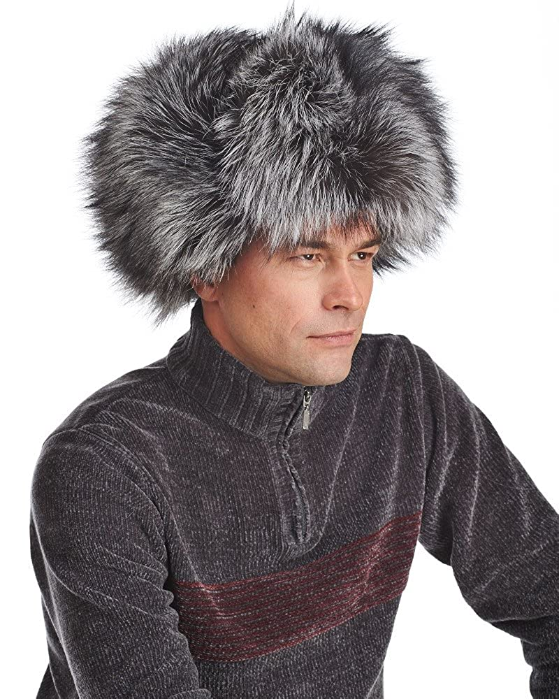 51292dcce5af7 frr Silver Fox Full Fur Russian Hat at Amazon Men s Clothing store