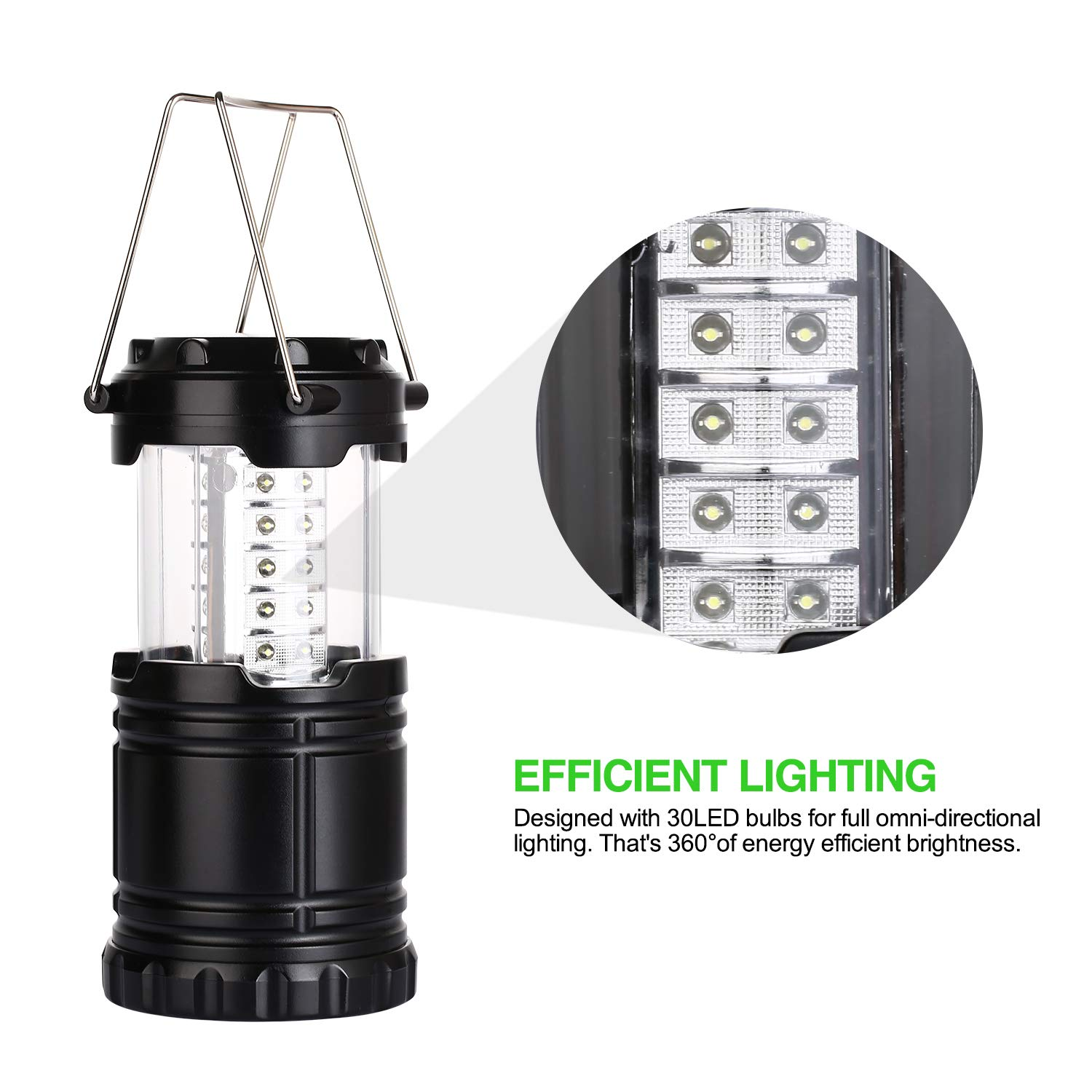 Hurricanes 2 PACK Yizhet Camping Lantern Portable Ultra Bright Collapsible Waterproof LED Lamp for Emergency,Outdoor Hiking Camping
