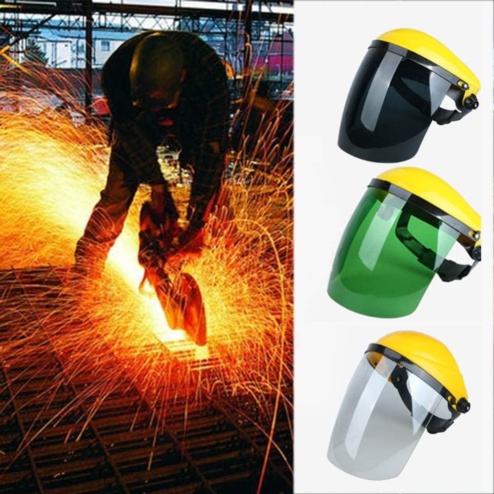 Gelb + gr/ün Maske Elektroschwei/ßen klarer gelber Top-Schutzhelm hitzebest/ändiger sch/ützender tragbarer leichter