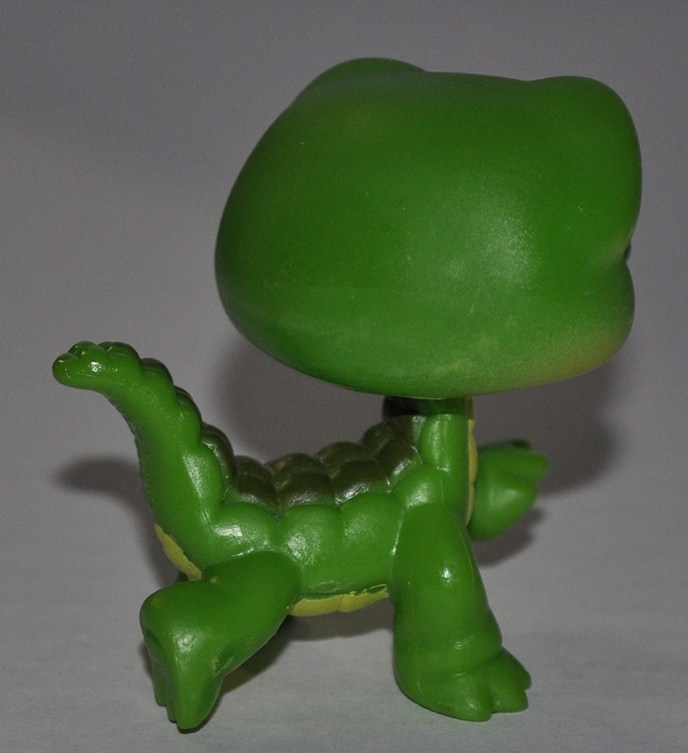Retired Special Edition Collector Toy LPS Collectible Replacement Single Figure Crocodile #987 Green, Blue Eyes, Yellow Belly Loose OOP Out of Package /& Print - Littlest Pet Shop
