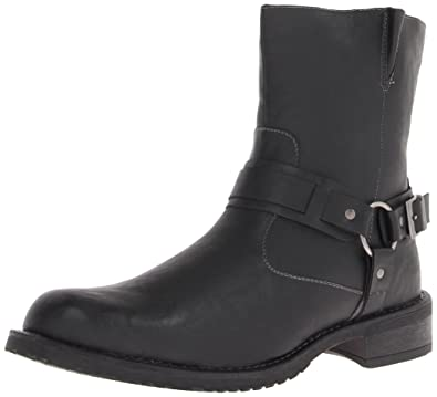 RW by Robert Wayne Men's Connor Harness Boot,Black,9 ...