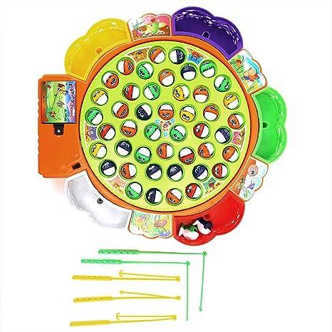 Juego de juguetes de pesca para niños con tablero giratorio de una ...