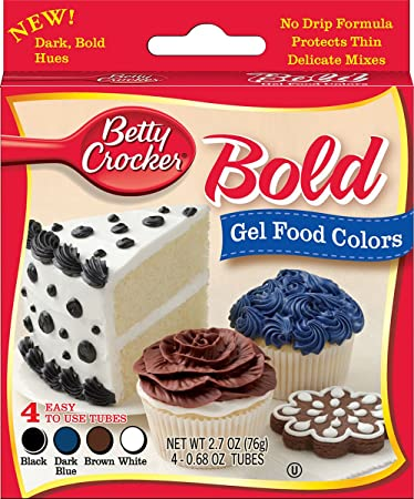 Amazon.com: Betty Crocker Gel Food Colors Bold Black, Dark Blue ...