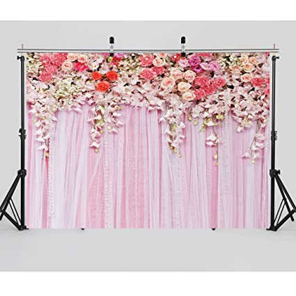 Amazon Com Sjoloon 7x5ftflower Photo Backdrop Wedding Photography