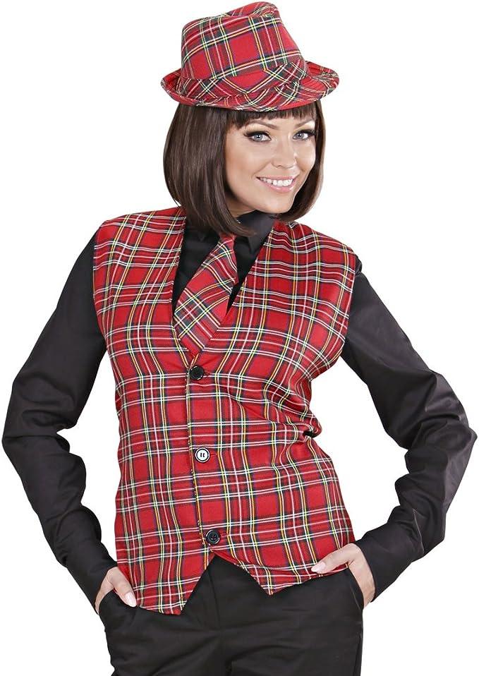 Amakando Disfraz escocés Chaleco Hombre a Cuadros M/L 50/52 Traje Tradicional escocés Ropa a Cuadros Top de Hombre de Cuadros Disfraz típico Escocia: Amazon.es: Juguetes y juegos