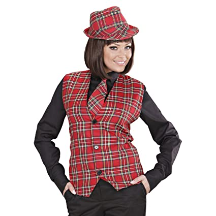Amakando Disfraz escocés Chaleco Hombre a Cuadros XL 54 ...
