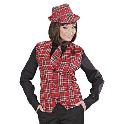 Amakando Disfraz escocés Chaleco Hombre a Cuadros M/L 50/52 ...