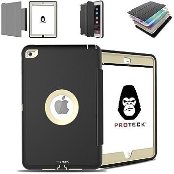 PROTECK Funda iPad Mini 4, Cubierta Carcasa Caso Case Elegante Plegable del Soporte Function Auto-Sueño/Estela y Soporte Trasera Dura Resistente para ...