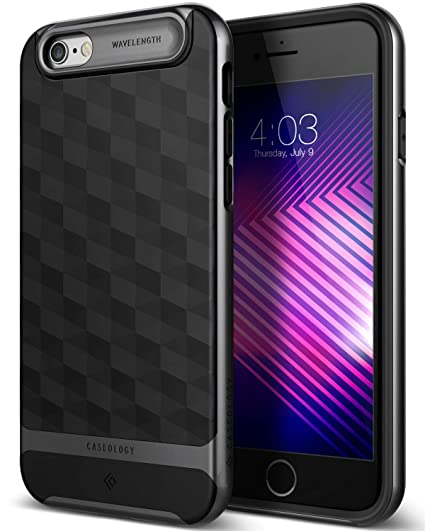 24a6fa88205fed Amazon.com: Caseology Parallax for Apple iPhone 6S Case (2015) / for iPhone  6 Case (2014) - Black/Black: Cell Phones & Accessories