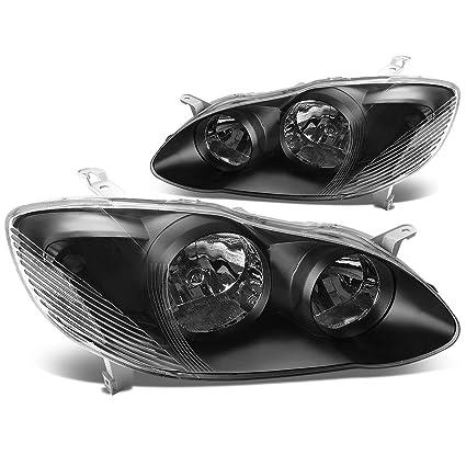 Driver /& Passenger Side DNA Motoring Black clear HL-OH-FSUPER08-BK-CL1 Headlight Assembly