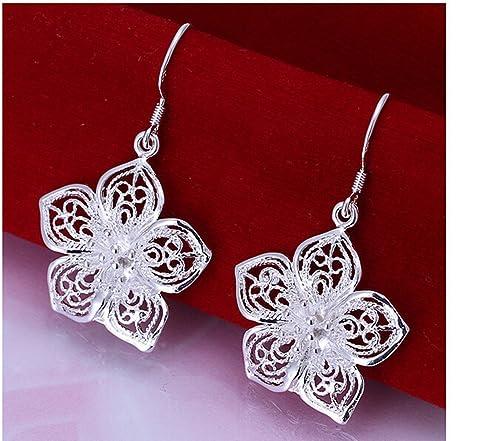 Silber Damen-Draht Ohrringe. Mit Silberdraht Anhänger. Ohrring ...