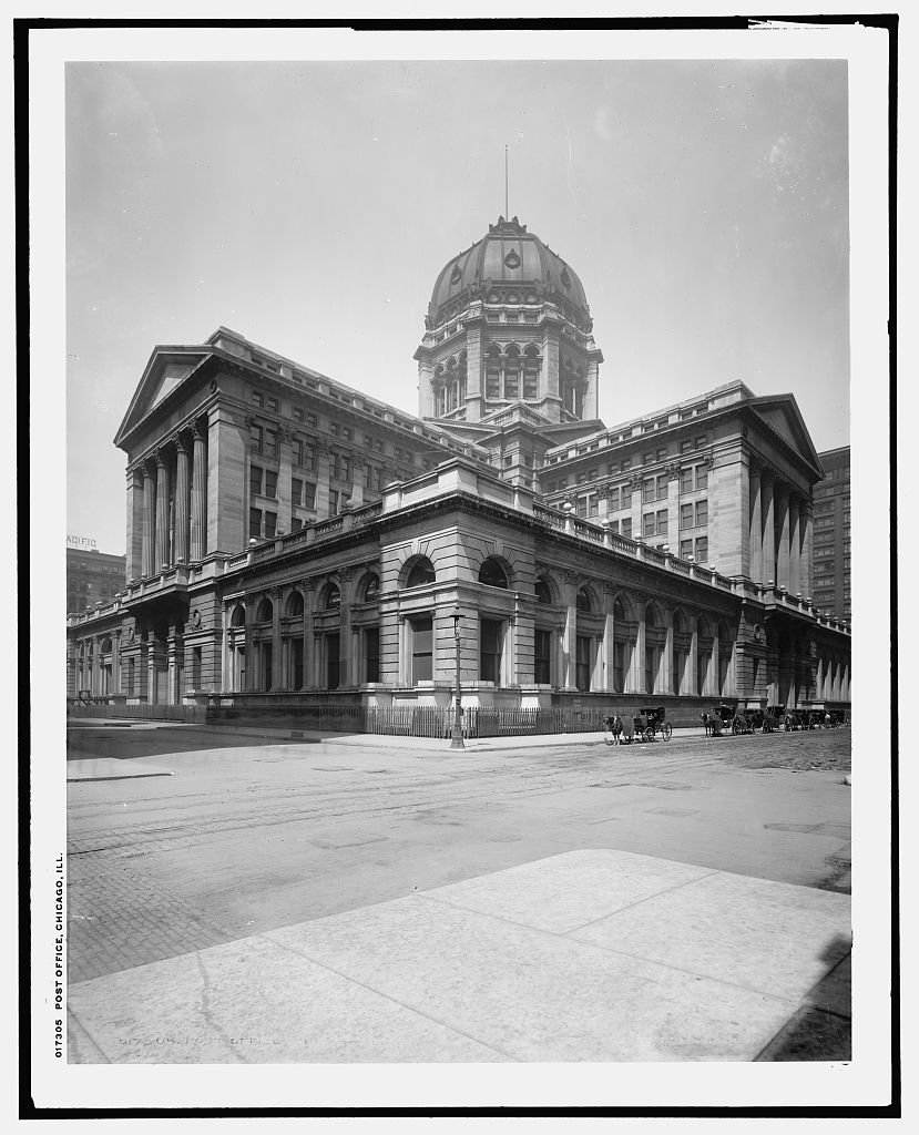 Vintography 40 x 30 Ready to Hang Canvas Wrap Post Office Chicago Ill 1903 Detriot Publishing 35a