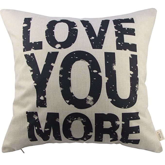 Amazon Love You More Square About Cotton Throw Pillow Cushion